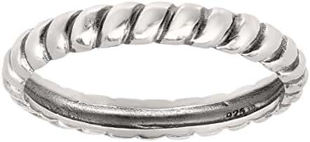 Silpada 'Belle Fleur' Sterling Silver Stack Ring