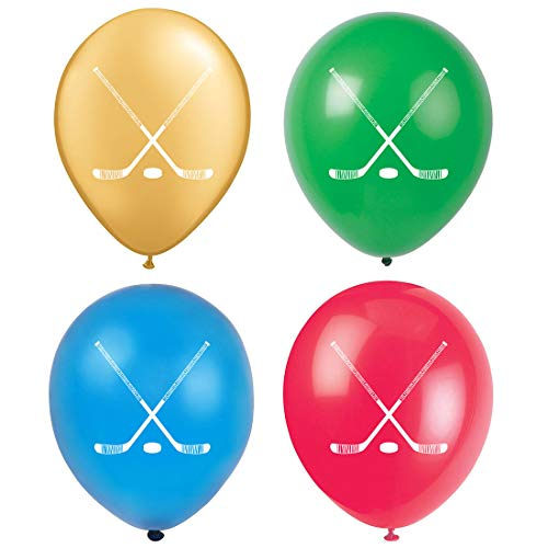 MAGJUCHE Hockey Party Balloons, 16pcs Hockey Sport Themed Baby Shower or Birthday Party Decorations, Supplies]()