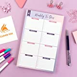Clever Fox Weekly To-Do Notepad – Weekly Planner