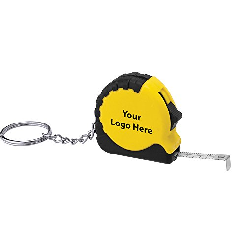 Pocket Pro Mini Tape Measure/Keychain - 300 Quantity - $1.45 Each - PROMOTIONAL PRODUCT/BULK/BRANDED with YOUR LOGO/CUSTOMIZED ()