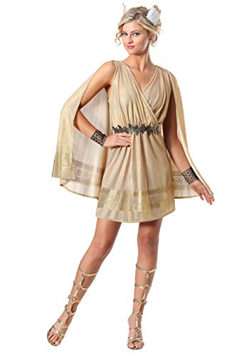 Women's Radiant Goddess Costume Medium Brown -