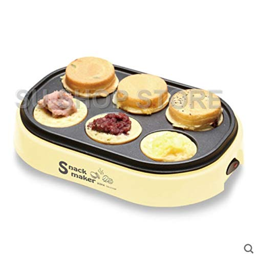 Best Quality - Waffle Makers - Electric Eggs Roasted Hamburger Machine Red Beans Cake Pie Maker Mini Breakfast Pancake Baking Crepe Fried Egg Frying pan - by SeedWorld - 1 PCs ()