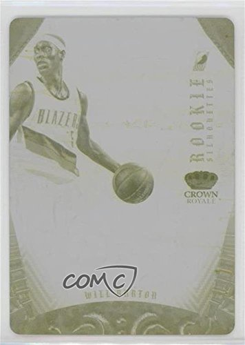 Silhouette Plate (Will Barton #1/1 (Basketball Card) 2012-13 Panini Preferred - Rookie Silhouettes - Printing Plate Yellow #301)