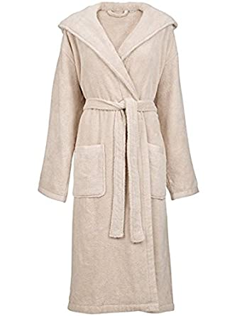 John Lewis Mens Cotton Bath Robedressing Gown Lxl Putty Rrp 55 L