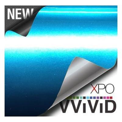 VViViD Liquid Metal Aqua Blue Vinyl Wrap Roll 1ft x 5ft Automotive Air-Release Adhesive DIY Decal Sheet: Automotive