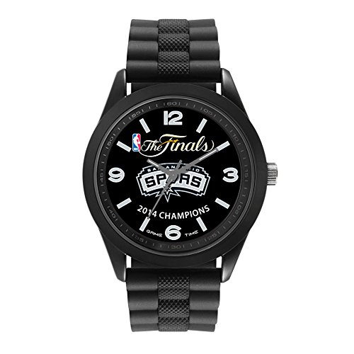 San Antonio Spurs- NBA Finals Championship Analog Display Japanese Quartz Black Watch by Quartz