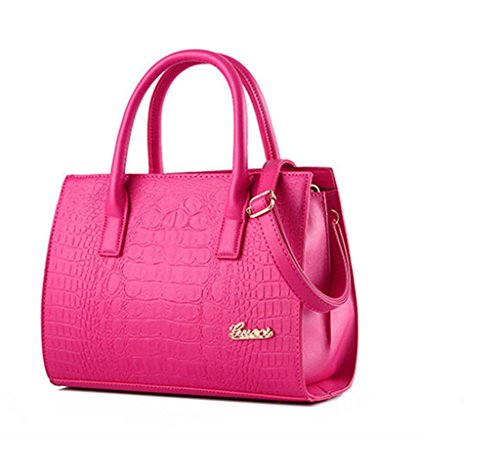 qckj New Cruz Fashion Rose Estilo de Mujeres Bolsa Red Europeo Bolso De PU Hombro Cuerpo wwTgdq