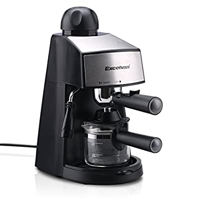 Excelvan CM6811 Steam Espresso and Cappuccino Coffeemaker (4-Cup, 800W 3.5bar)