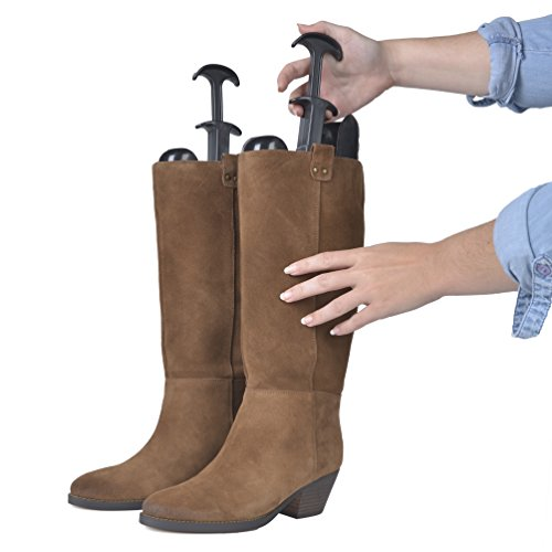 The ORIGINAL Silvermoon Brand Boot Trees for Knee High Tall Boots- Great Support Form Shaping Inserts for Womens and Mens Shoes Set of 2 for One Pair of (Shaft Saver)