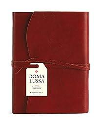 Cavallini Roma Lussa Journals Red 6 x 8, 416 Softbound Leather