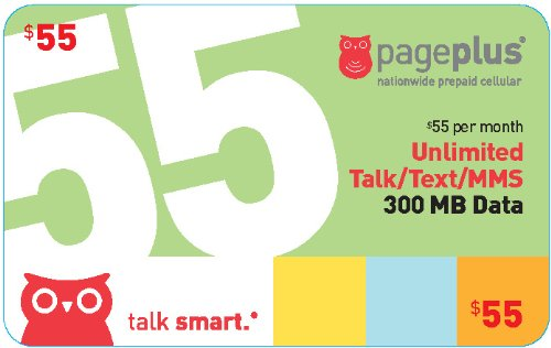 (Pageplus $55 Unlimited Talk & Text+500 Mb Data+)