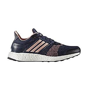 Adidas Ultra Boost ST Running Shoe - Womens Midnight Grey/Still Breeze, 8.5
