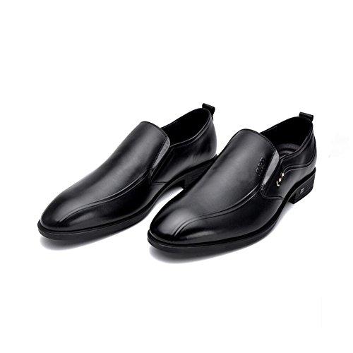 De Moda Para Negro Negocios Y Noche Fiesta Con Hombres Zapatos Cuero Caminar Formales Punta FBqdwB