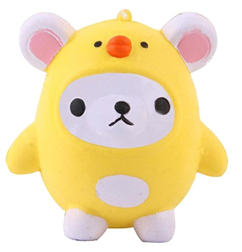 Joykith Stress Reliever Squishy Kawaii Cute Bear Jumbo Slow Rising Squeeze Toy Collection Cure Gift