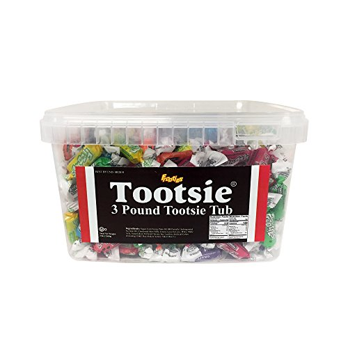 Tootsie Roll Frooties 3 Pound - Exclusive office edition - With Reusable Tootsie Tub & Lid