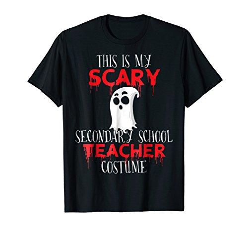 Scary Secondary Teacher Funny Group Halloween Costume Tshirt ()