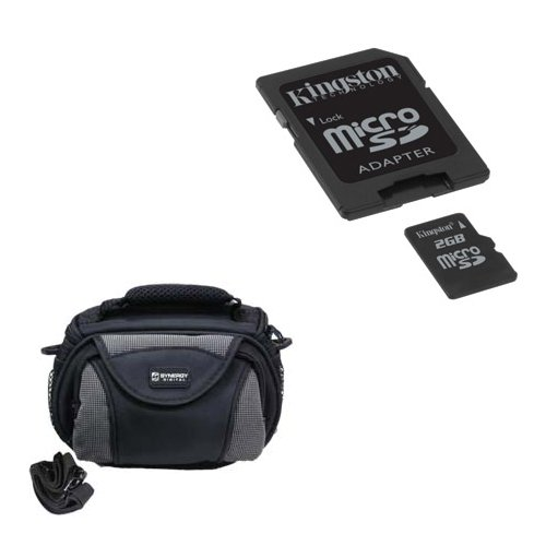 Kodak PixPro SPZ1 Camcorder Accessory Kit includes: M45547 Memory Card, SDC-26 Case by Synergy Digital