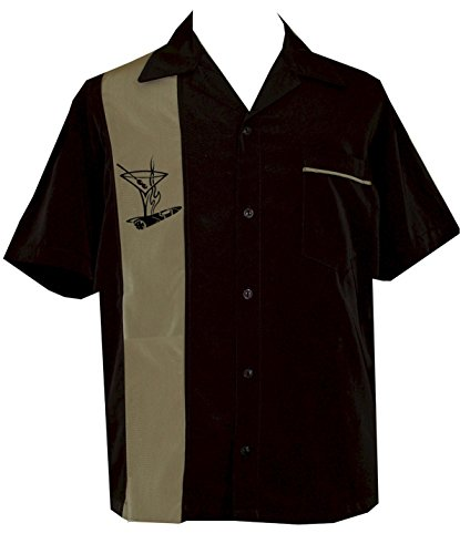 Camp Shirt Panel (BeRetro Men's Cigar Camp Shirt 4XL ~ Santiago)