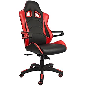 Devoko Gaming Chair Racing Style Bucket Seat Premium PU Leather Chair  Swivel Executive Office Chair Lumbar