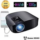 Projector Video Movie Home Theater 3500 lumens 1280x800 Native Resolution Support 1080P LED Projector for iPhone Laptop Andriod Smartphone PS4 Xbox TV Box Fire TV WS610 by BeamerKing