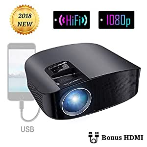 Projector Video Movie Home Theater 3500 lumens 1280x800 Native Resolution Support 1080P LED Projector for iPhone Laptop Andriod Smartphone PS4 Xbox TV Box Fire TV Camera WS610 by BeamerKing