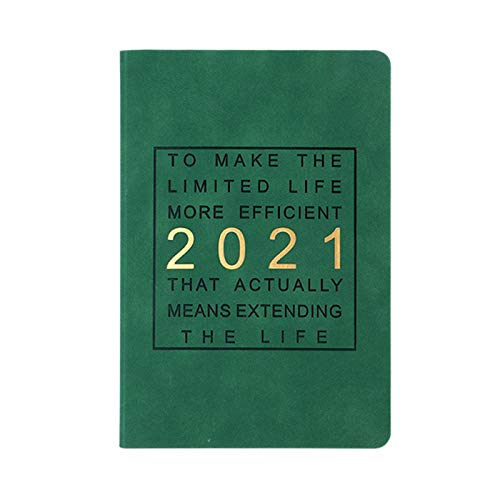 2021 Planner - Weekly & Monthly Planner, Weekly Planner Organizer with Tabs, 2021 Notebook Time Management Organizer Notebook Hardcover