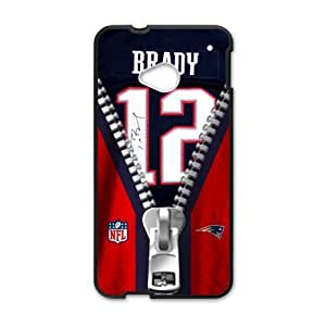 Happy NFL New England Patriots Tom Brady Jerseys Cell Phone Case for HTC One M7