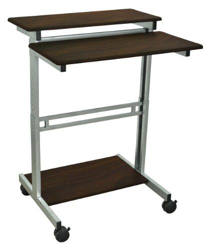 (LUXOR Standup-31.5-DW Stand Up Workstation, Walnut)