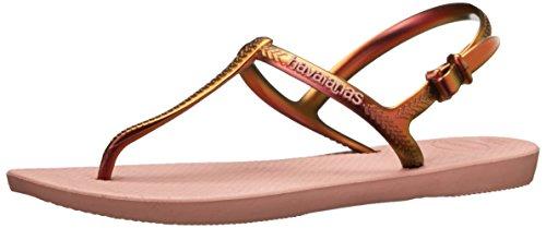 Havaianas Women's Freedom Gladiator Sandal, Crocus Rose, 37 BR/7.5/8.5 M US