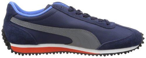 Puma Whirlwind Classic Leather - Caña baja de cuero hombre azul - Blau (peacoat-steel gray 13)