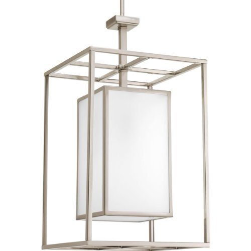 - Progress Lighting P3921-09 1-Light Foyer Fixture with Etched Glass Panels by Progress Lighting