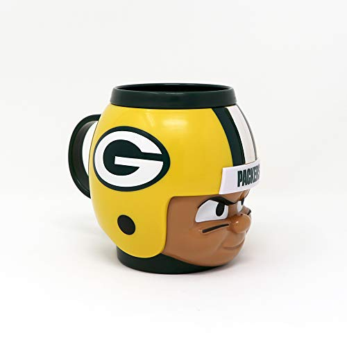 Party Animal Officially Licensed NFL BMGB Green Bay Packers Big Sip Drink Mug, 16oz, Multi