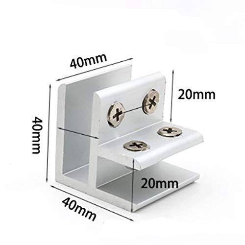 abrazadera de vidrio de conexi/ón en dos paneles laterales abrazadera de 10-12 mm mesas soporte de vidrio a vidrio ducha paneles Juego de 4 abrazaderas de cristal de 90/° NUZAMAS