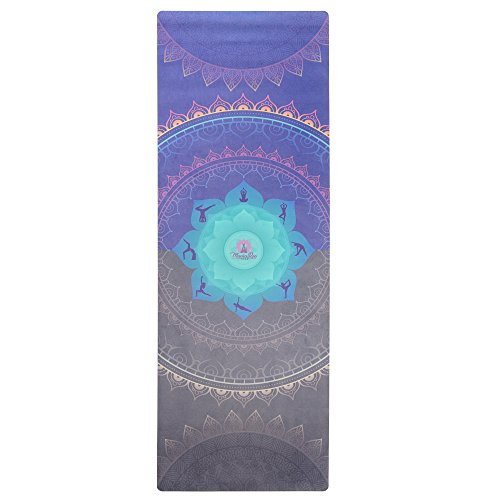 MamaRoo Yoga Premium Yoga Mat/Towel Combo- Eco, Printed Microfiber Design Increases Grip with Sweat....