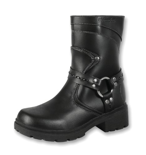 Milwaukee Motorcycle Clothing Company Womens Daredevil Boots (Black, Size 9)