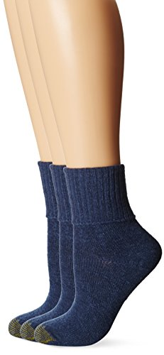 Gold Toe Women\'s 3-Pack Bermuda Turn Cuff Sock