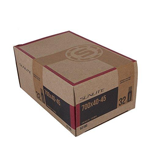 Sunlite Standard Schrader Valve Tubes, 700 x 40 - 45 / 32mm Valve, Black