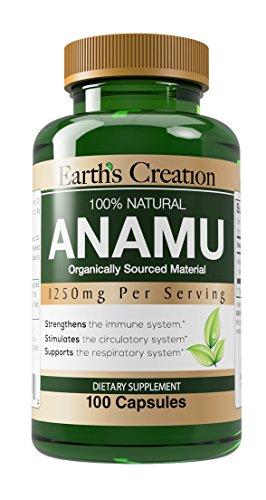 Earth's Creation Anamu 1250mg 100% Organically Grown - 100 Capsules ()