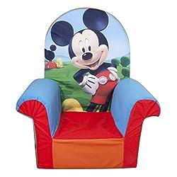 Marshmallow Furniture, Children's Foam High Back Chair,...