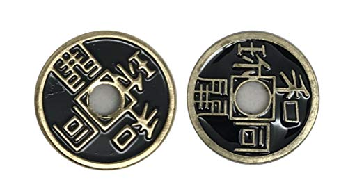 Black Expanded Shell Chinese Coin Trick from Royal Magic