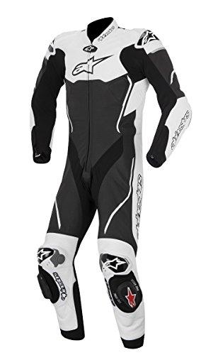 Alpinestars Atem Men's 1-Piece Street Motorcycle Race Suits - Black/White / 52