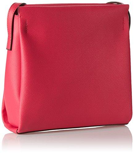 Calvin Klein M4RISSA Flat Crossbody, Bolsa para Mujer, 22x7x23 cm (b x h x t) Rosa (Bright Rose)