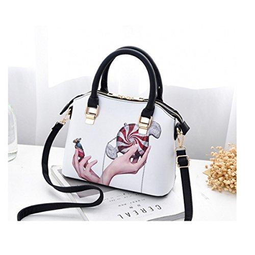 PU Satchel body Handbag Design Lady Girls Bag Shoulder Tote Casual Candy OULII for Cross xBXwTq6U