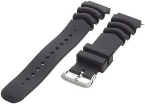 Timex Men's Q7B722 Resin Performance Sport 22mm Black Replacement Watchband