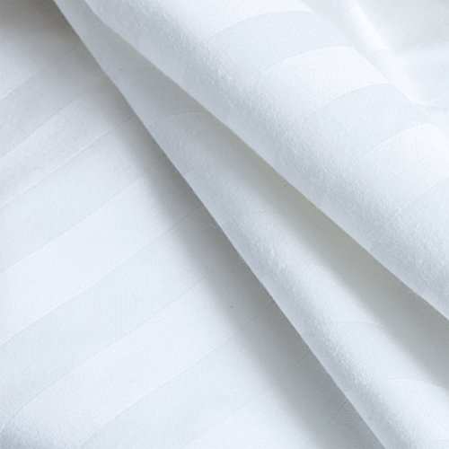 ADI Biltmore Stripe 220TC Pillowcase in White King Size 21'' x 46'' - 6 Pack by ADI