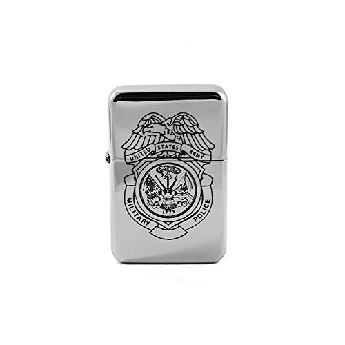 Lighter - Army Police Shield - High Polish Chrome L1 - Star Int. Inc Brand