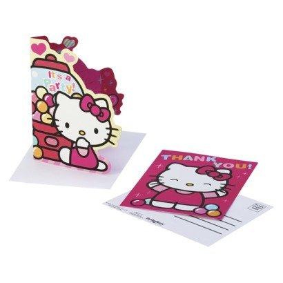 - Hello Kitty 'Sweet Gumdrop' Invites & Thank Yous w/ Envelopes (8ct)