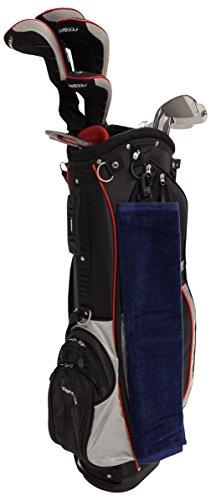 "16"" x 25"" Golf Sports Tri-Fold Hemmed Towel with Snap Hook (Navy Blue)"