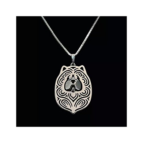 chow-chow-dog-necklace-silver-tone