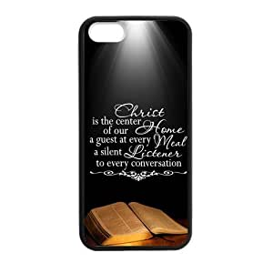 Hoomin Faith Religious Christian Inspirational Quote Book iPhone 5 5s Cell Phone Cases Cover Popular Gifts(Laster Technology) wangjiang maoyi